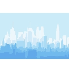 Silhouette city flat vector