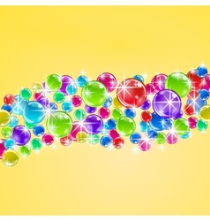 Background with colorful bubbles vector