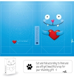 Creative wrap layout for gift vector