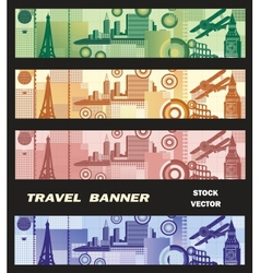 Banner on the theme of travel vector image