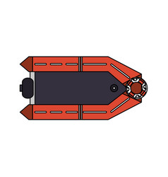 inflatable lifeboat icon image vector image