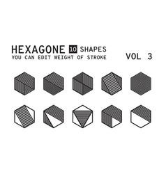 Geometric logo design vector