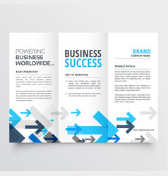 Tri fold brochure design in creative business vector