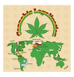 Legalization of marijuana or cannabis legalize vector