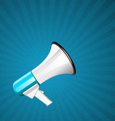 Megaphone background vector