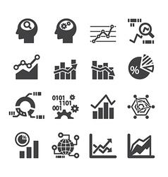 analytics icon set vector image