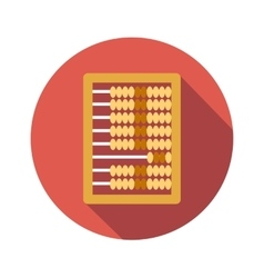 Abacus calculation flat icon vector