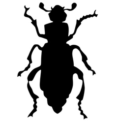 Silhouette of grave-digger beetle vector