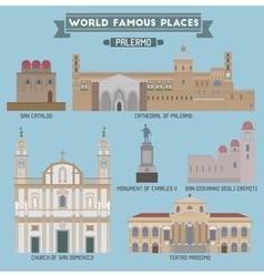 Palermo famous places vector image