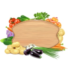 Vegetable board vector
