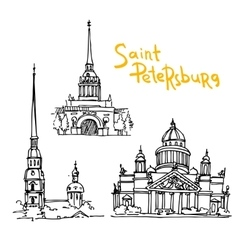 Sketching of saint petersburg vector