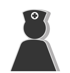 Nurse woman pictogram vector