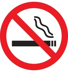 Icon with no smoking sign vector