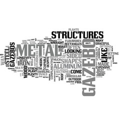 A look at metal gazebos text word cloud concept vector