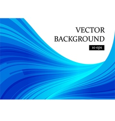 Abstract blue and white curve background vector image vector image