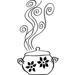 Boiling pan vector image