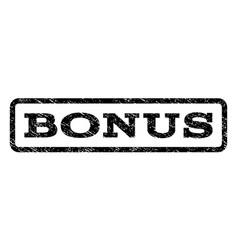 bonus watermark stamp vector image