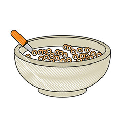 Cereal bowl icon vector