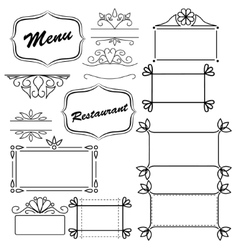 Design element for menu vector image vector image