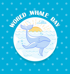 February world whale day vector