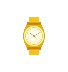Golden wrist Watch on white field vector image vector image