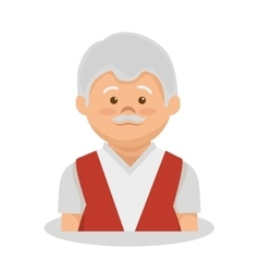Grandfather character member avatar vector