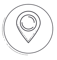 Isolated gps mark design vector