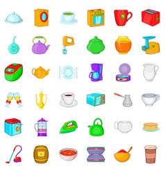 mixer icons set cartoon style vector image vector image