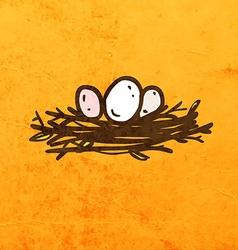 Nest cartoon vector
