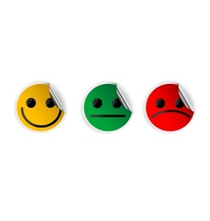 Paper smiles icons vector image vector image