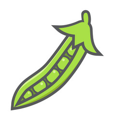 peas colorful line icon vegetable and diet vector image