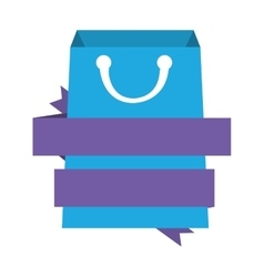 Shopping bag market isolated icon vector