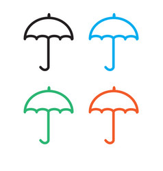 umbrella icon on white background umbrella sign vector image