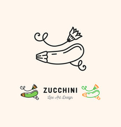 Zucchini icon courgette symbol vegetables vector