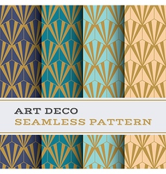 Art deco seamless pattern 10 vector