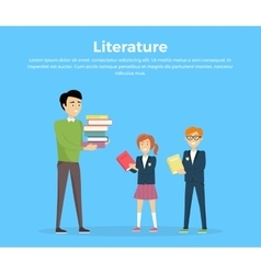 Literature reading concept vector
