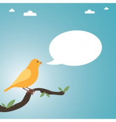 talking canary vector image