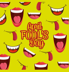 Fools mouth pattern background vector