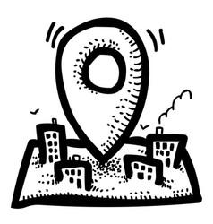 Cartoon image of route icon localization symbol vector