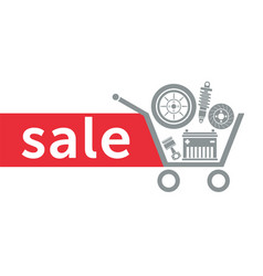 sale in the auto parts store vector image
