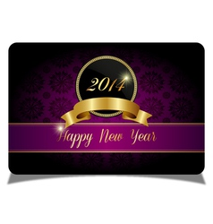 Purple new year celebrate card vector