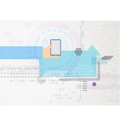 Abstract futuristic business background Hand with vector image