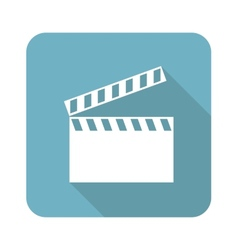Clapperboard icon vector