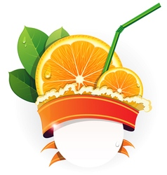 Juicy orange slices vector