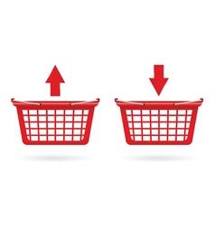 Basket shop red vector