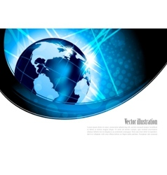 bright background with globe vector image