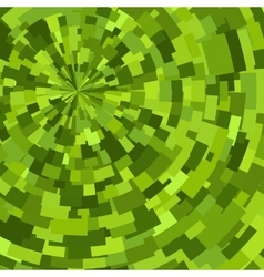 Green abstract radial textured geometric pattern vector