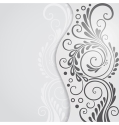 Abstract floral background for design vector image vector image