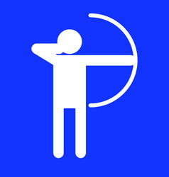 Archery sport figure symbol graphic vector