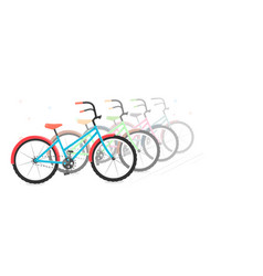 bike in a on a white background motion vector image vector image